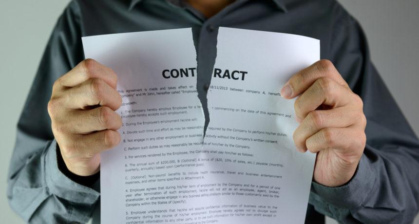 9 principales causes de la rupture d'un contrat d'apprentissage