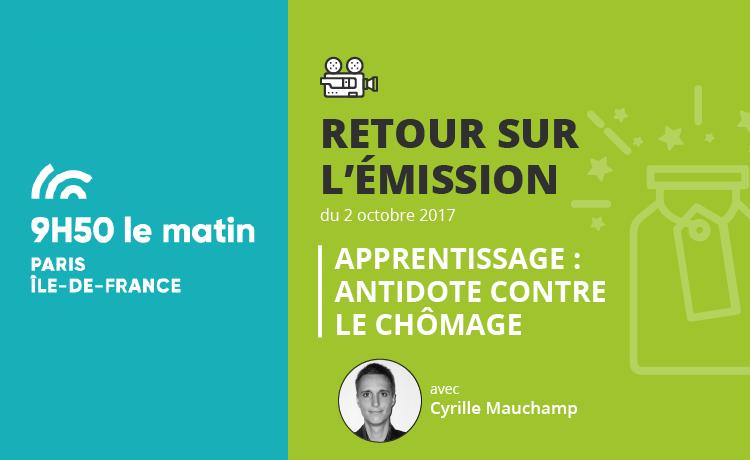 Retour sur l'émission 9h50 le matin (France 3) avec Cyrille Mauchamp